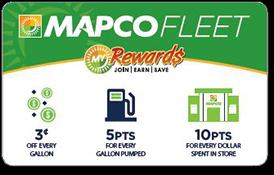 MAPCO Fleet Rewards card